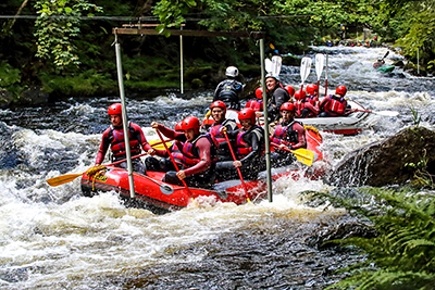 White-Water rafting in Snowdonia.  Taken for Welsh Government Project.