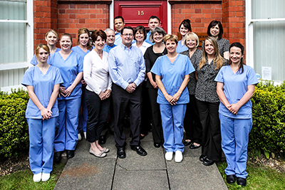 Staff Team photo taken for Dental practice in Worcester