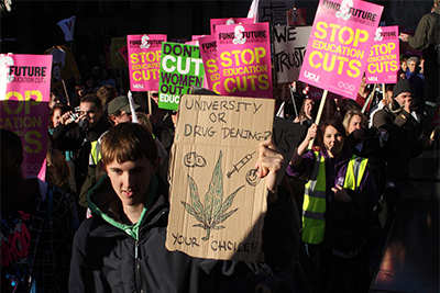 News and Press Photography.  NUS Demonstrations in London.